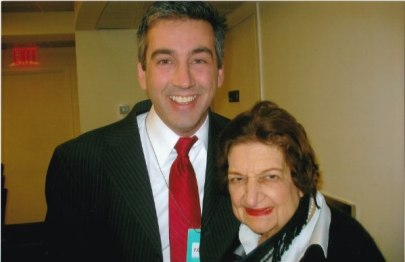 With White House Correspondent Helen Thomas, 2008